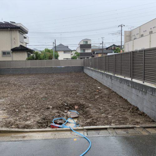 """<span class=""""title"""">2021-06-02   葛飾区東金町5丁目現場-家屋解体・外周ブロックフェンス工事をアップしました。</span>"""